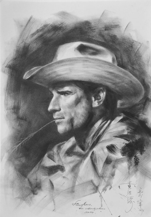 Drawing- Portrait of cowboy