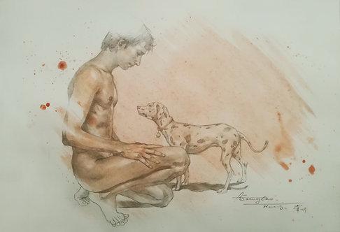 Drawing -Friend