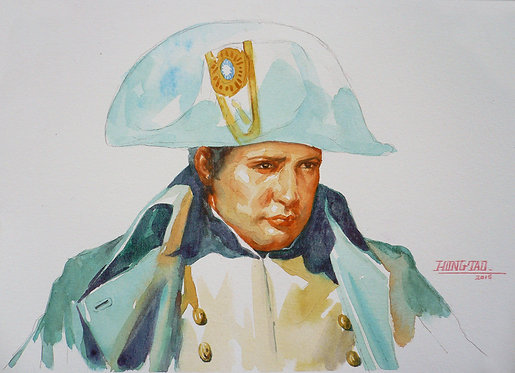 Watercolor -Portrait of Napoleon