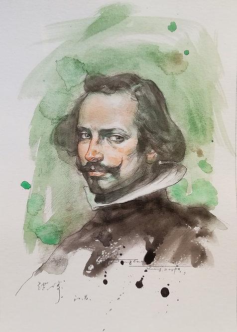 Watercolour-Portrait of Artist