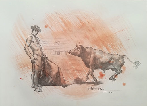 Drawing - Bullfighter