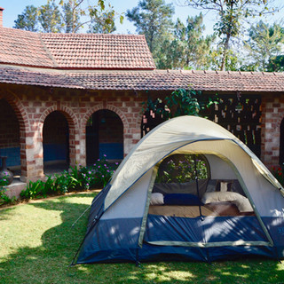Want to sleep under the stars? Just ask our caretaker to set-up the tent for you! (Pedestal fan can also be added for summers)