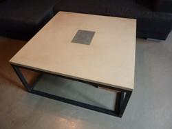 table basse beton coulé