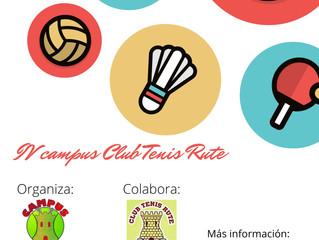 IV campus club tenis rute