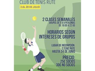 """Inscripciones """"I Campus de Tenis Rute""""."""