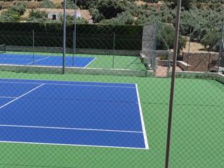 Apertura pistas de tenis tras su arreglo y mantenimiento