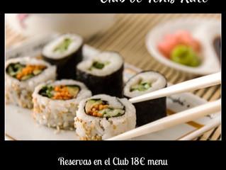 Degustación menú sushi
