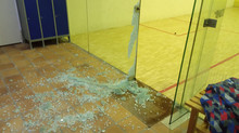 Cierre pista de squash