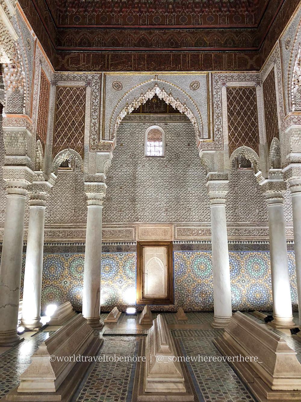 Tombe Saadiane a Marrakech, Marocco. Viaggio di una settimana in Marocco | worldtraveltobemore.com