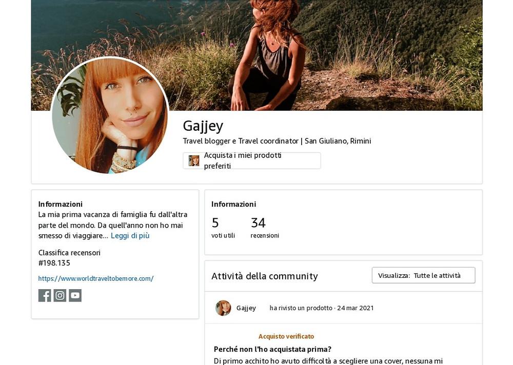 Il mio profilo Amazon Influencer completo di immagine profilo, descrizione e dettagli. Vai allo shop!