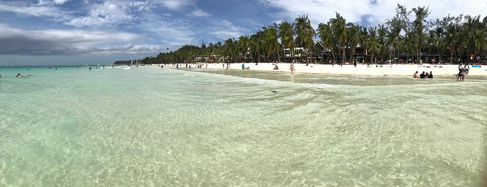 White beach, perchè la sabbia è davvero bianca e l'acqua davvero cristallina! Isola di Boracay, Repubblica delle Filippine