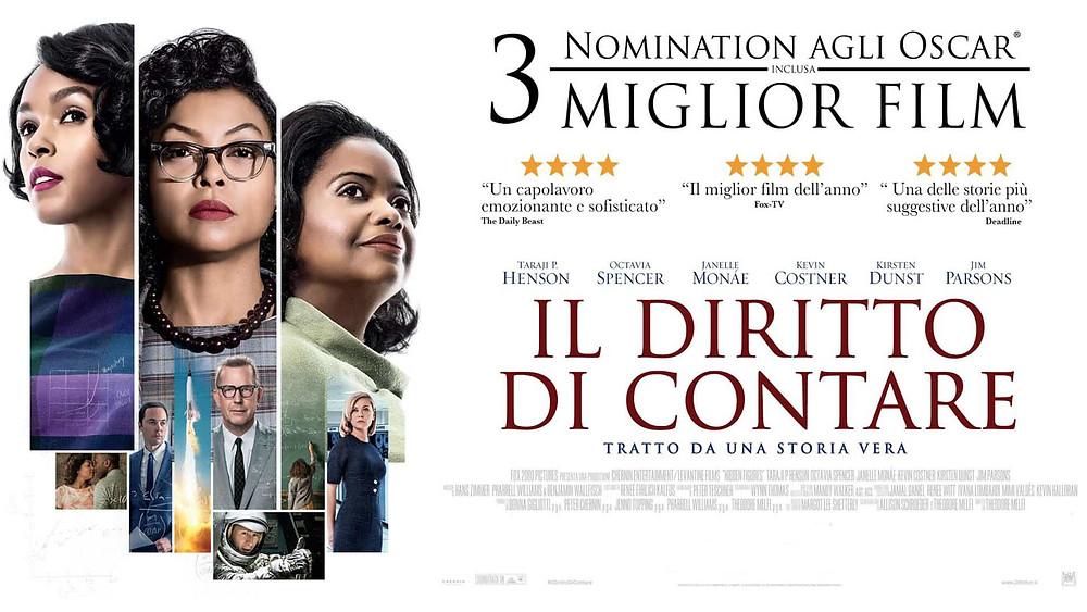 Locandina del film, protagoniste a sinistra, dettagli e candidature a premi a destra,