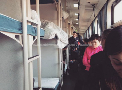Durante il viaggio Amelia si è sempre spostata in treno per attraversare le diverse città cinesi.