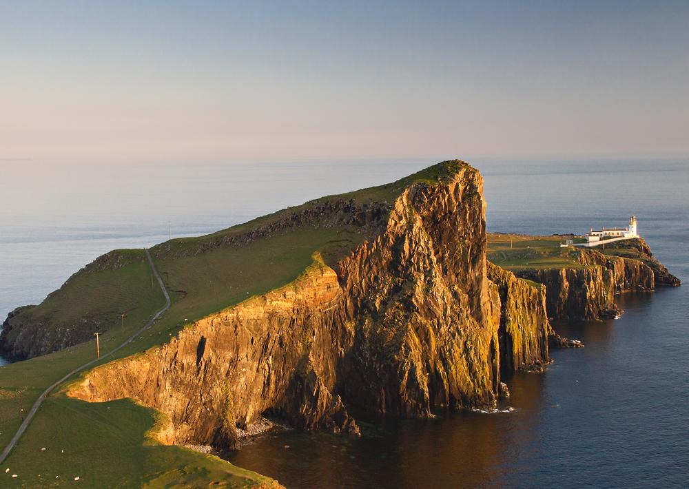 Panorama dell'Isola di Skye al tramonto, immagine presa dal web