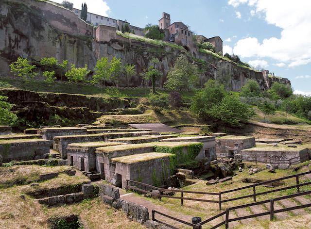 Necropoli etrusca sottostante alla città di Orvieto.