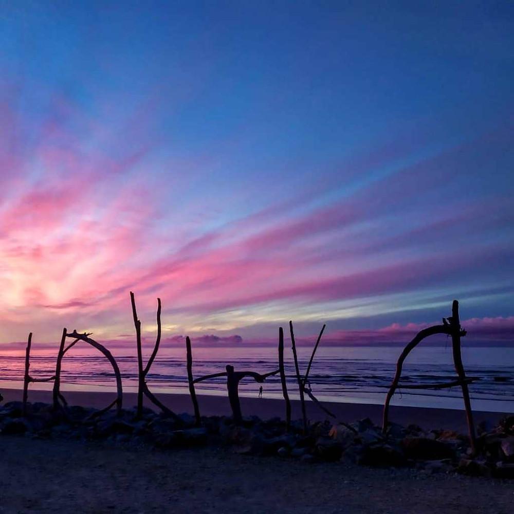 Uno dei bellissimi tramonti sulla spiaggia, Isola del Sud, Nuova Zelanda. PH Gian Marco S.