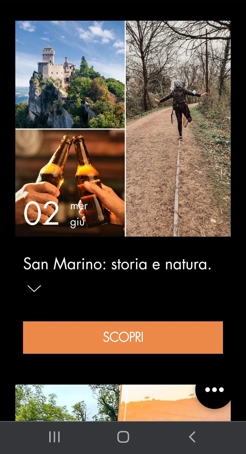 Un esempio di locandina, versione mobile.