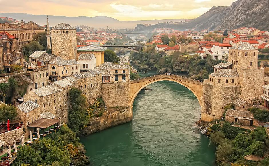 Il ponte di Mostar, Mostar, Bosnia ed Erzegovina. Scatto preso dal web.