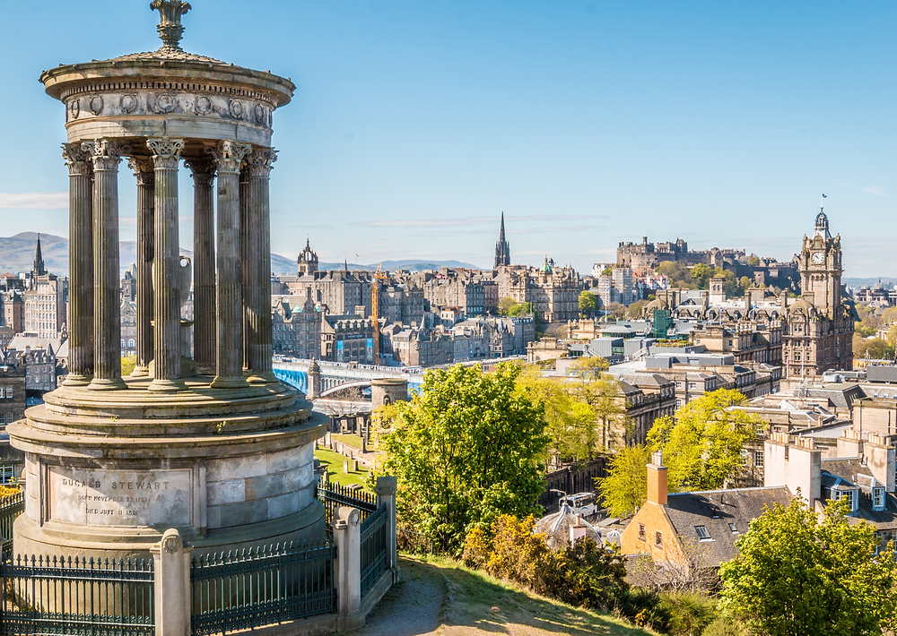 Vista panoramica su Edimburgo, immagine presa dal web