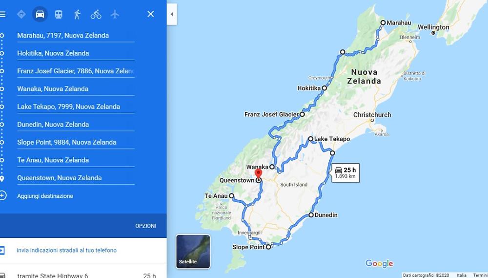 Itinerario Isola del Sud, il giro in macchina del viaggiatore del mese in Nuova Zelanda.