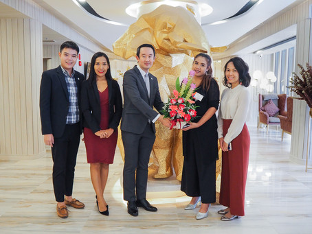 Eleven Hotel Bangkok receives a flower bouquet on its first opening day