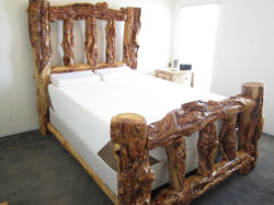 Post Burl Bed