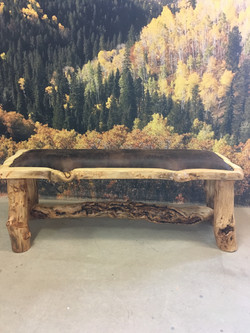 4 ft. bench with faux leather
