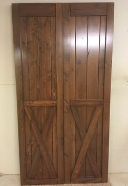 Distressed barn doors