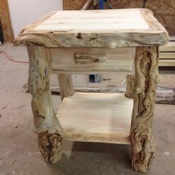 Aspen Burl side table