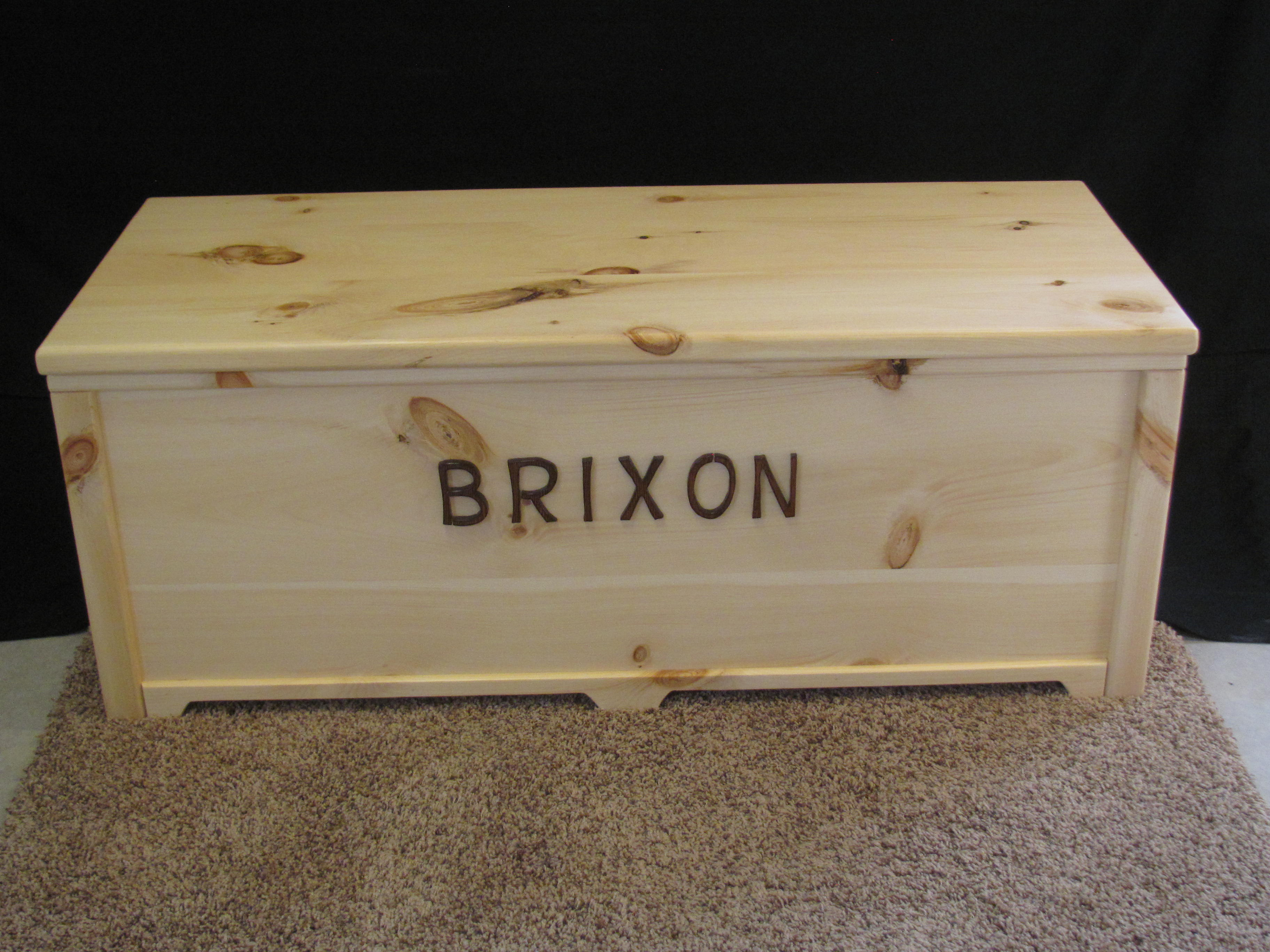 Knotty Pine Toy Chest