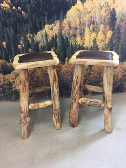 Bar stools with faux leather