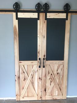Hickory barn pantry doors