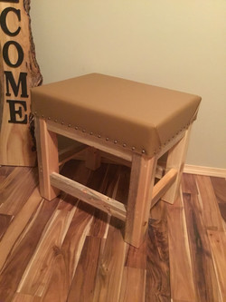 Small pine bench