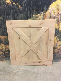 Custom barn dog gate