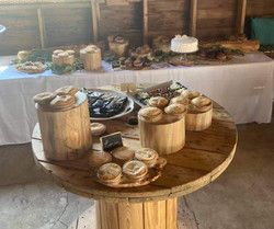 Party food display pieces