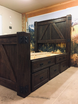 Distressed Queen bed