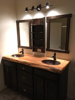 Dual vanity with maple top