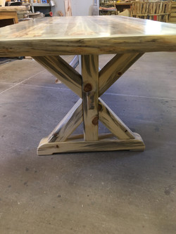 Blue Pine Trussell table legs