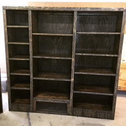 Rustic open pantry