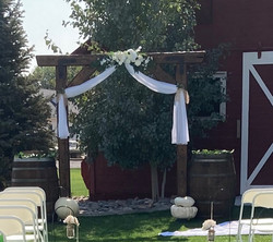 Faux distressed timber Arch