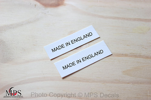Made In England Guitar Decal