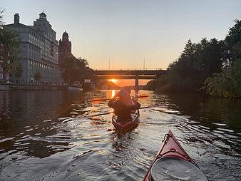 Sunset Kayaking in Stockholm
