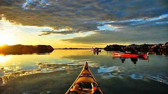 Sunset Kayaking in Stockholm Archipelago