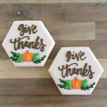 Give Thanks cookies