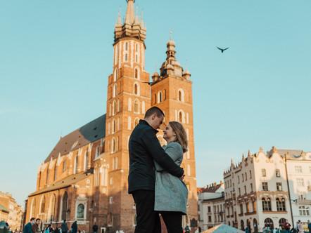 Romantyczna sesja w sercu Krakowa