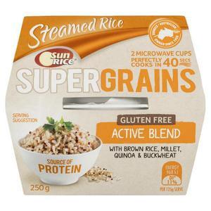 Sunrice Gluten Free Supergrains Active Blend Cups 2 pack