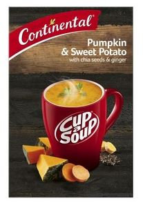 Continental Pumpkin & Sweet Potato With Chia Seeds & Ginger Instant Soup 96g