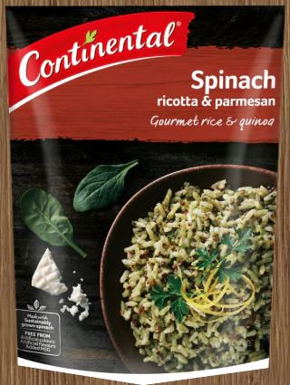 Continental Spinach Ricotta and Parmesan Rice and Quinoa 105g