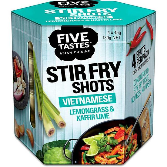 Five Tastes Stir Fry Shots Lemongrass & Kaffir Lime 4x45g