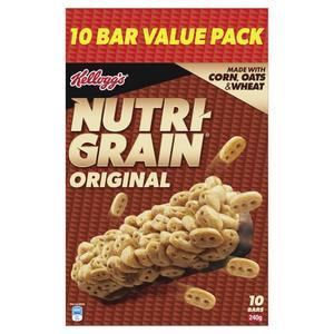 Kellogg's Nutri-Grain Original Cereal Snack Bars 10 pack